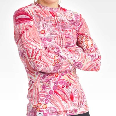 Gals Performance Long Sleeve Crew Neck - Print