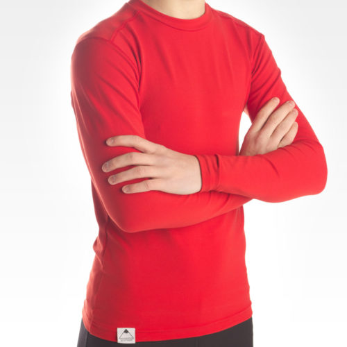 Performance Long Sleeve Crew Neck - Red