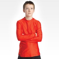 Long Sleeve Crew Neck - Youth - Red